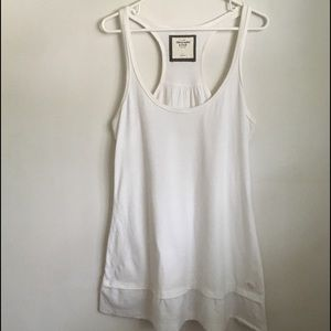 Abercrombie & Fitch Dress tunic maxi shirt White L